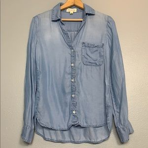 CLOTH & STONE | Chambray button front XS